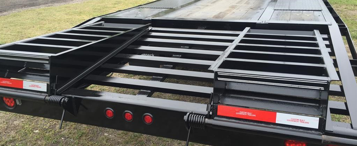 New Pierced Frame Flatbed Trailers For Sale