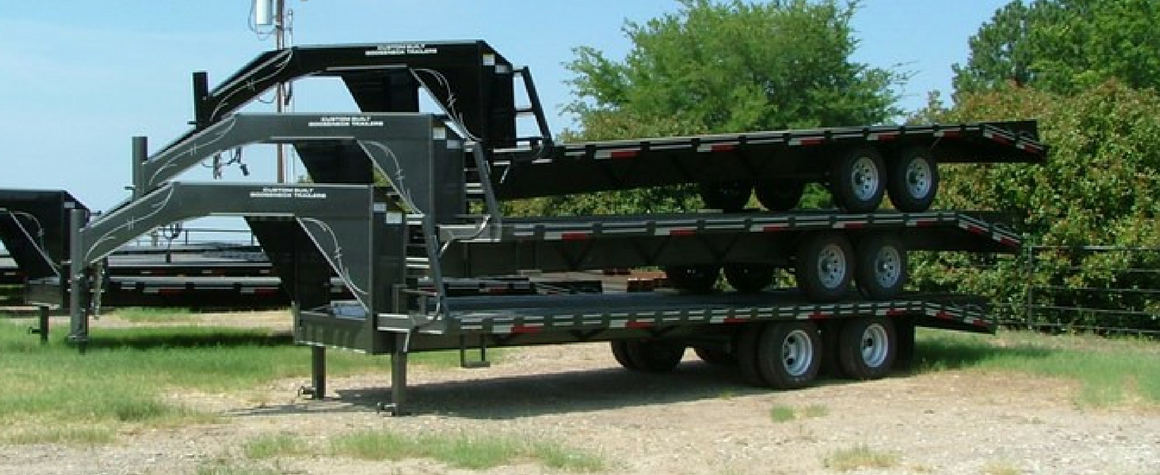 Custom Built Tandem Dual Gooseneck Trailer in Sulpher Springs, Texas
