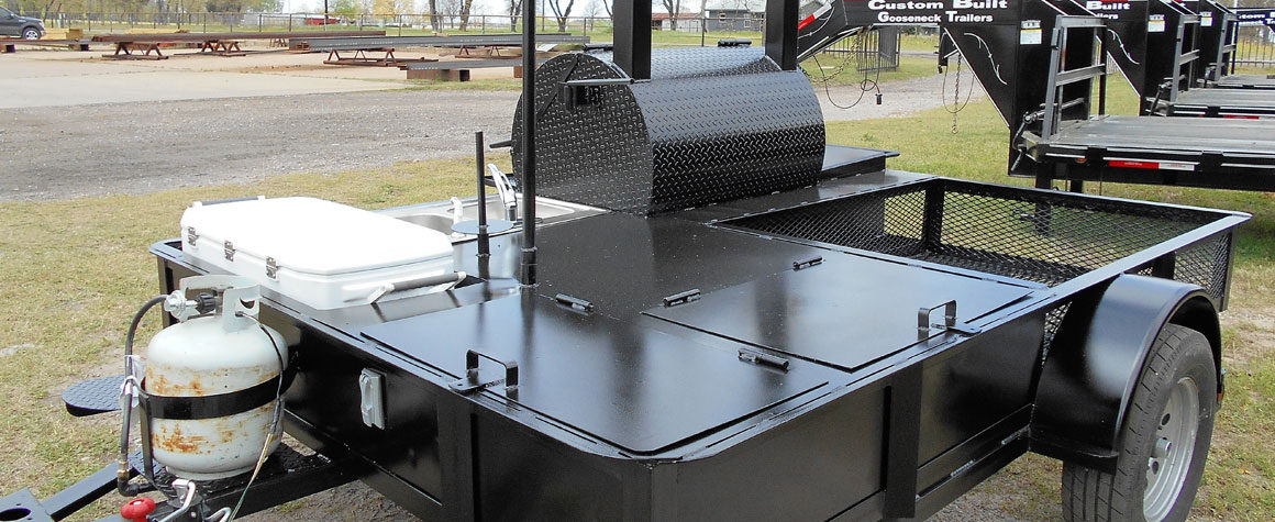 Bbq Pit Trailers Custom Built Gooseneck Trailers