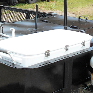 Cooler on a BBQ Pit Trailer
