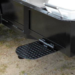 Built-In-Shelf on a BBQ Pit Trailer