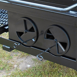 Built-In-Ventilation on a BBQ Pit Trailer