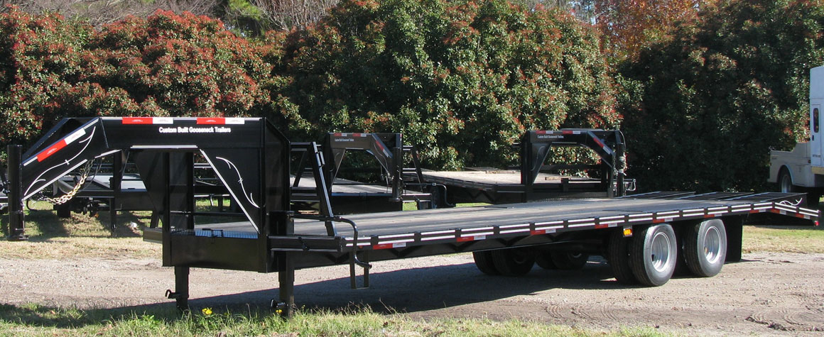 Black Hot Shot Trailer built by Custom Built Gooseneck Trailers