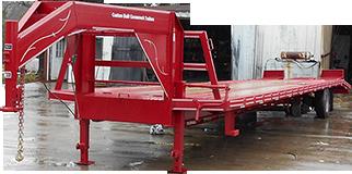 Tandem Dual trailer built by Custom Built Gooseneck Trailers in Sulphur Springs, Texas