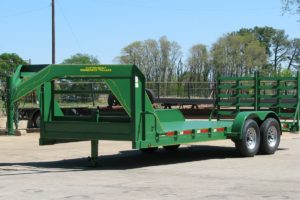 Green Car Hauler built by Custom Built Gooseneck Trailers