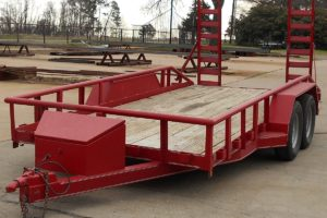 Red Car Hauler built by Custom Built Gooseneck Trailers