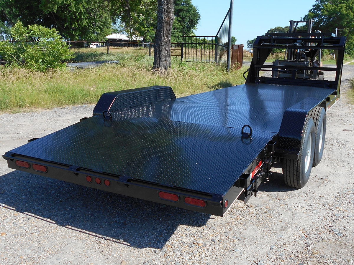 Black Car Hauler built by Custom Built Gooseneck Trailers