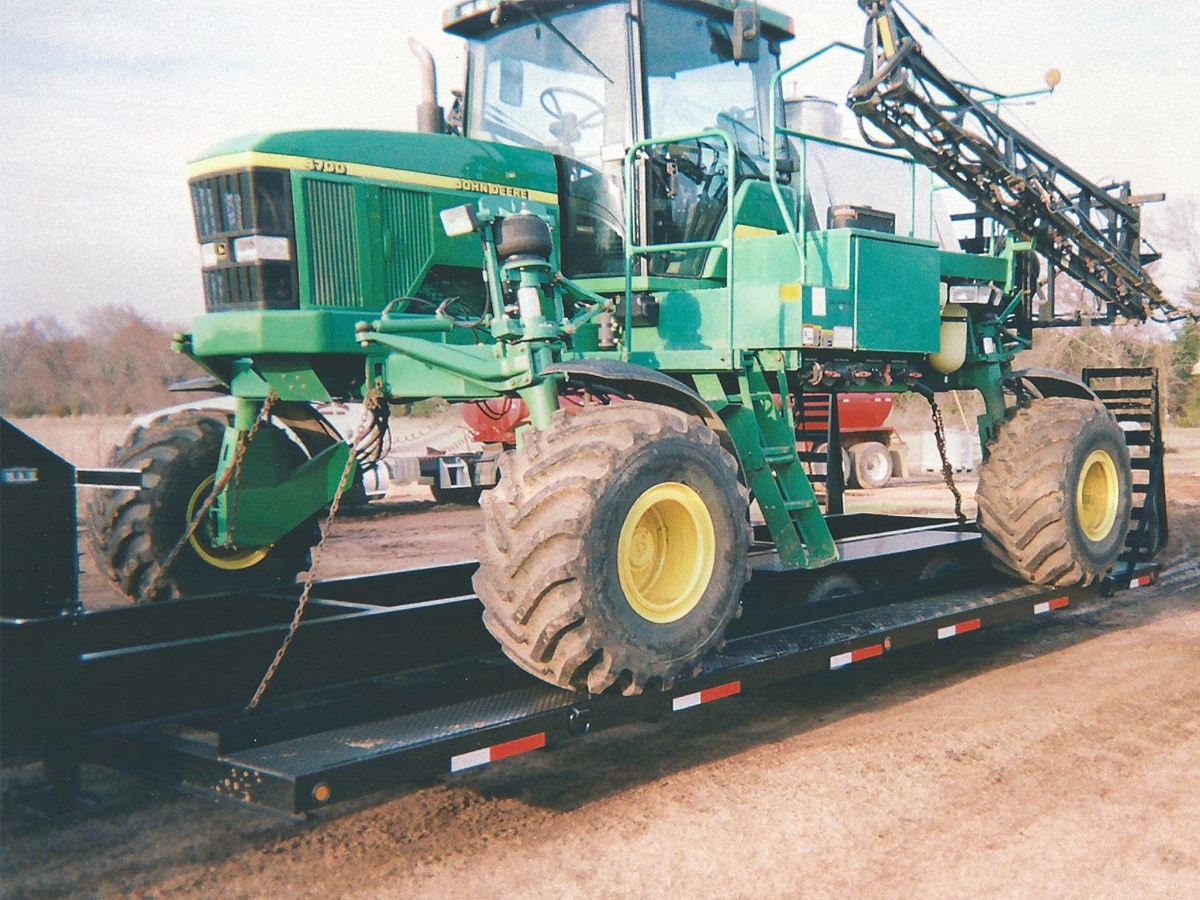 Crop Dusting Trailer built by Custom Built Gooseneck Trailers