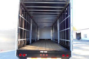 Rear View of a Curtain Side Trailer built by Custom Built Gooseneck Trailers