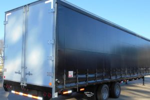 Side View of a Curtain Side Trailer built by Custom Built Gooseneck Trailers