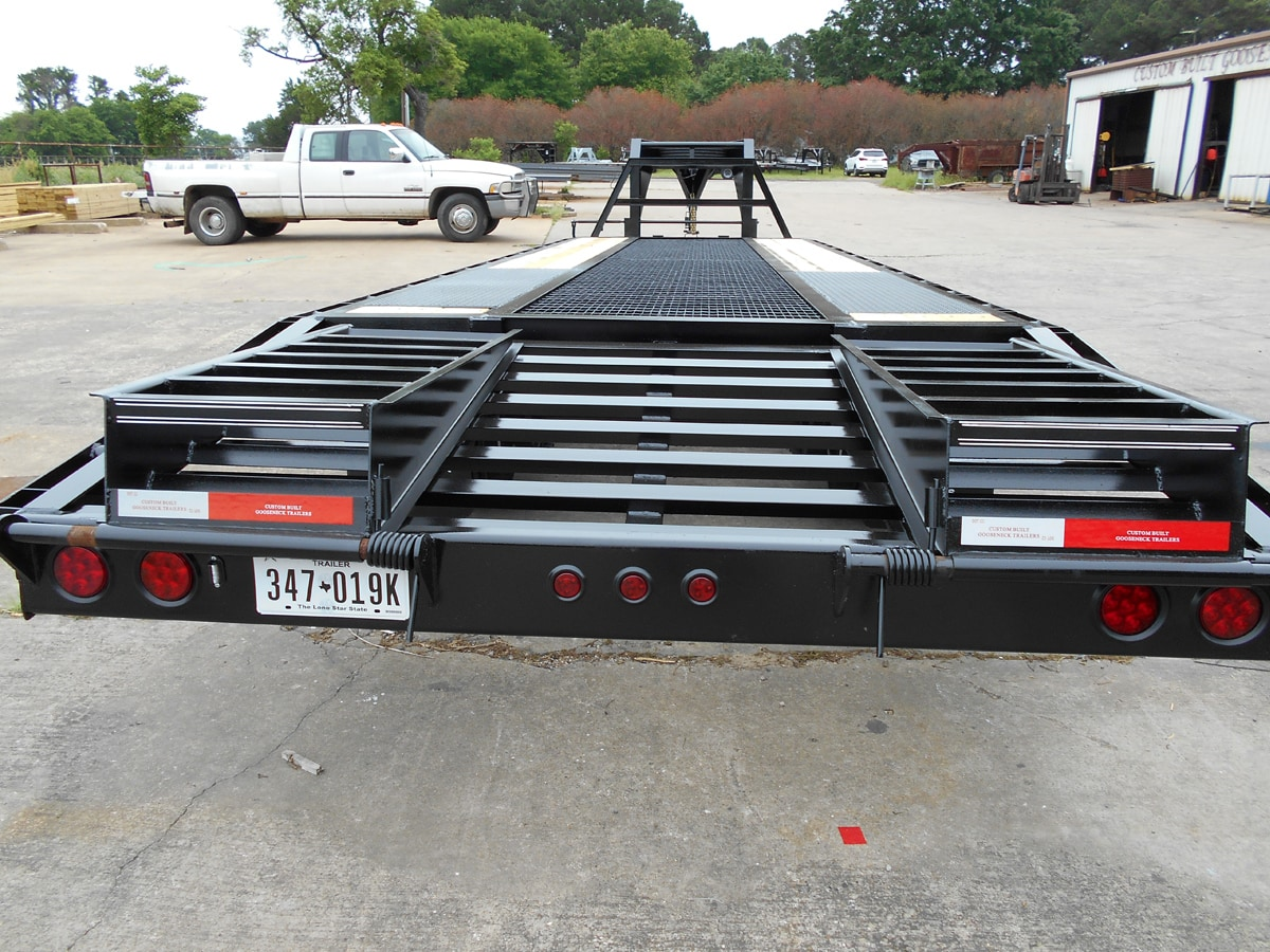 Custom Pierced Frame Trailer built by Custom Built Gooseneck Trailers