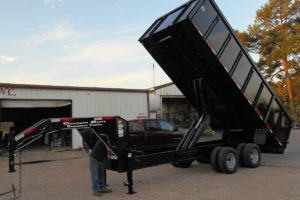 Dump Trailer built and designed by Custom Built Gooseneck Trailers
