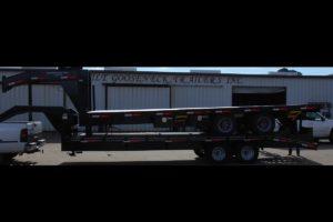 Oilfield ready Air-Ride, Ladders Loaded Trailer built by Custom Built Gooseneck Trailers