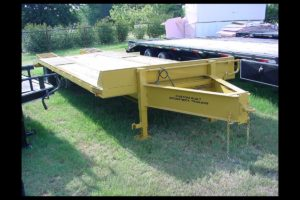 Yellow Pintle Hitch Trailer with Ramps built by Custom Built Gooseneck Trailers