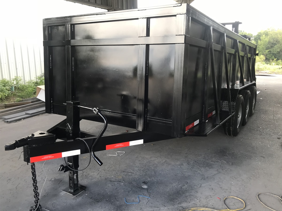 Scrap Trailer built and designed by Custom Built Gooseneck Trailers