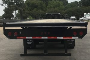 Rear View of a Specialty Trailer built by Custom Built Gooseneck Trailers