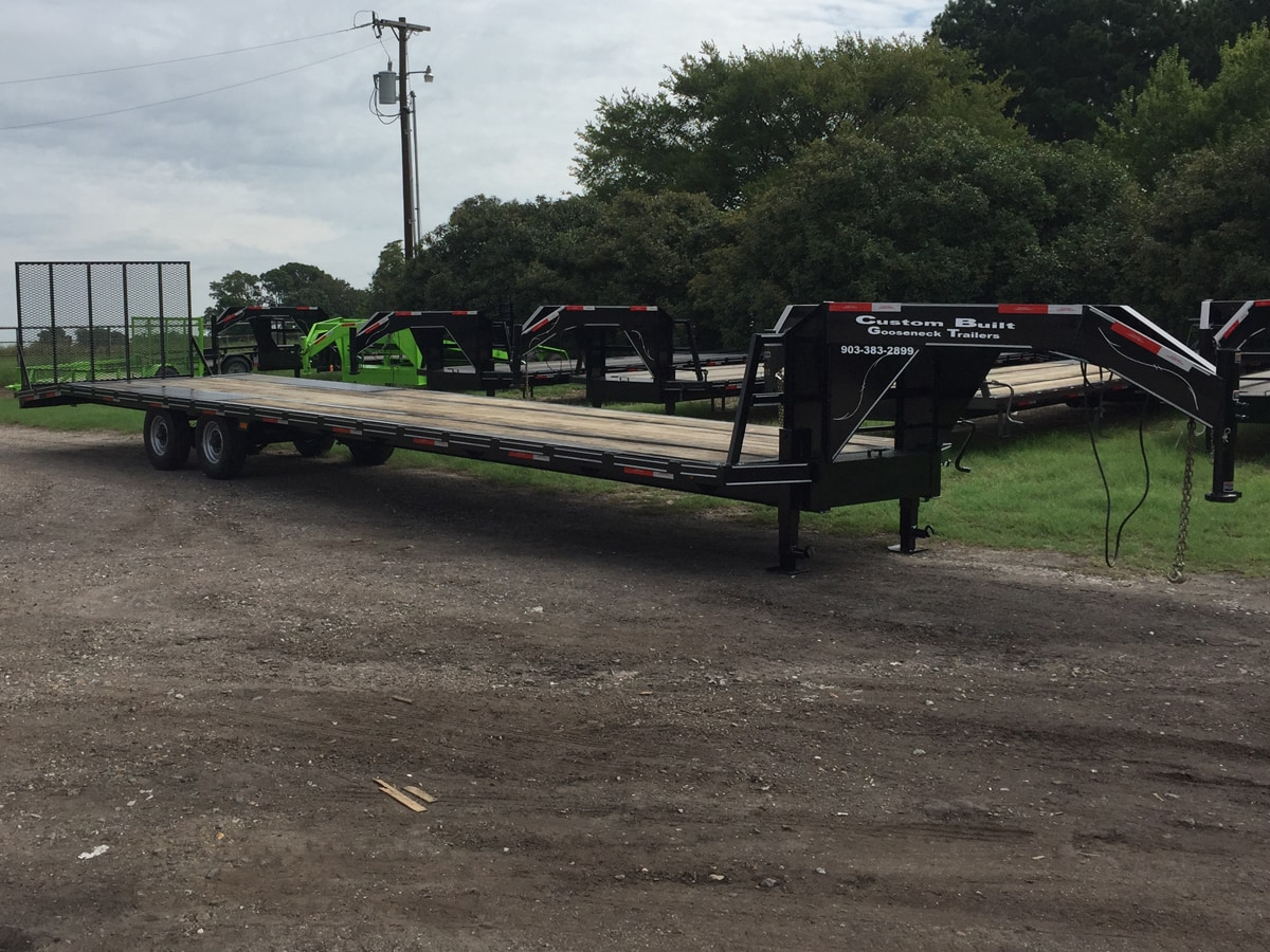 Side View of a Specialty Trailer built by Custom Built Gooseneck Trailers