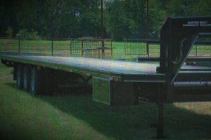 Triple Axle trailer built by Custom Built Gooseneck Trailers